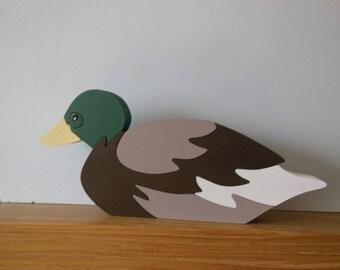 Handmade Mallard Duck Puzzle/Decor