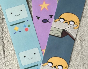 Adventure Time Themed Bookmark Set