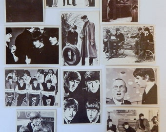 "1964 Beatles Movie ""A Hard Days Night"" Trading Cards (11 cards)"
