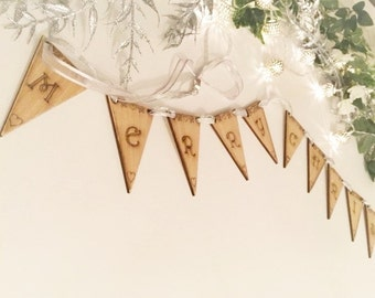 Wooden Merry Christmas Bunting/Garland
