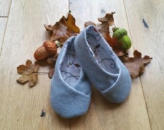 Baby/Toddler wool felt slippers