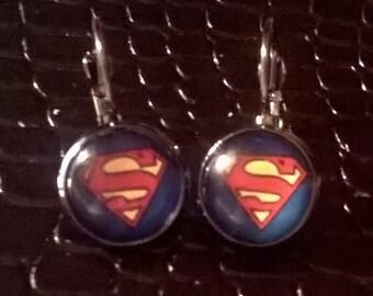 Superhero dangle earrings