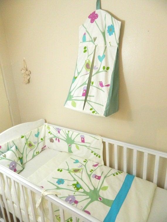 SaleNeutral Bird Themed Baby Bedding Set