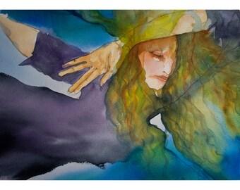 Sirena - Siren - Watercolor