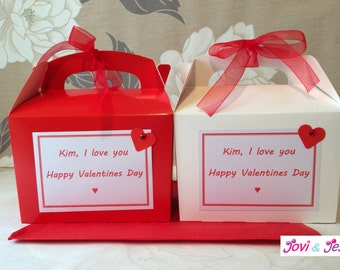 Personalised Activity Box - Valentine Love Party Birthday Wedding Christmas Favour