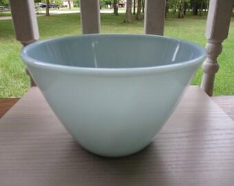 "Fire King Splash Proof Turquoise Blue 7 5/8"" Bowl"