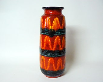 West germany Seventies Fat Lava Scheurich vase 206-27