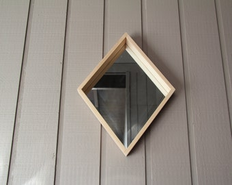 Wooden Diamond Mirror v2 - FREE SHIPPING