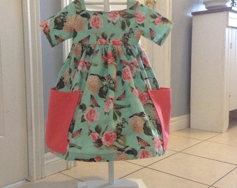 The Birds and Butterflies Dress, Size 4