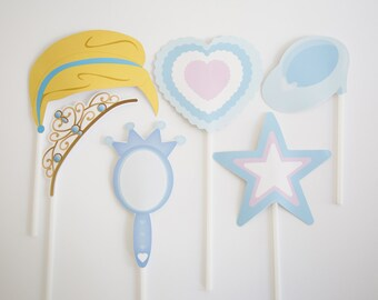 Cinderella Photobooth  Party Girl Photo Props