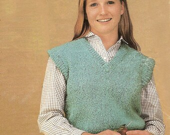 Summer Knit Top - PDF Pattern Download - Sleeveless V Neck Top for Summer or Fall Vest