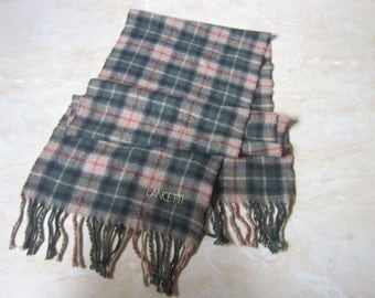 Vintage Lancetti Cashmere Wool Scarf Lancetti Lambswoll Vintage Scarf Muffler Made in Italy