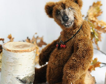 realistic Teddy Bear OOAK grizzly bear Beatrice