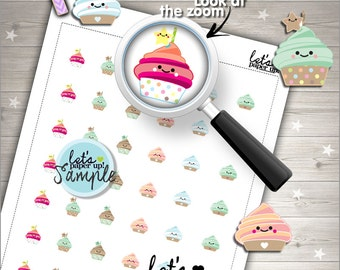 60%OFF - Cupcake Stickers, Printable Planner Stickers, Muffin Stickers, Cute Stickers, Kawaii Stickers, Planner Accessories, Cakes