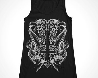Inverted Cross Satanic Men's Tank
