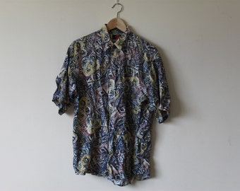 Vintage Retro Pattern Short Sleeve Shirt