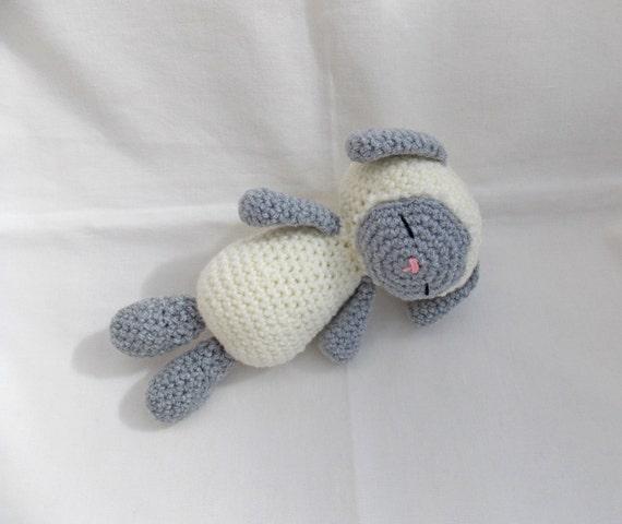 Amigurumi Sleeping Sheep : Crochet Amigurumi Sleepy Sheep lamb crochet new baby gift