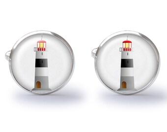 Cufflinks - Lighthouse Cufflinks - Watchtower Cuff Links - Nautical Cufflink - Beach Cufflinks (Pair) Lifetime Guarantee (S0544)