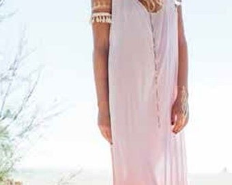 Tie & Dye Long Razor Back Beach Dress