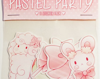 Pastel Party Stickers