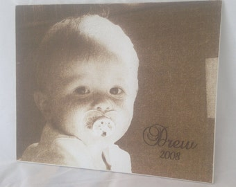 Family Portraits - Canvas Product Laser Engraved Image