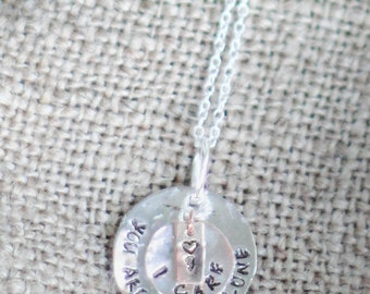 Stamped Charms on Sterling Silver Chain