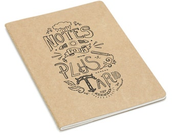"""Book """"Notes for later"""" manuscript lettering"""