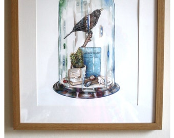 Bird in Bell Jar