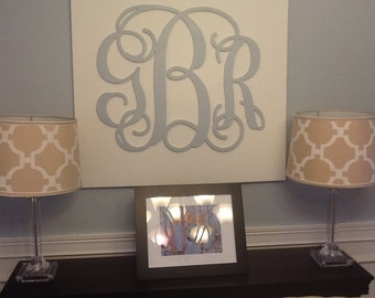 Wooden Monogram Wall Hanging large wooden monogram wall hanging painted initials photo prop