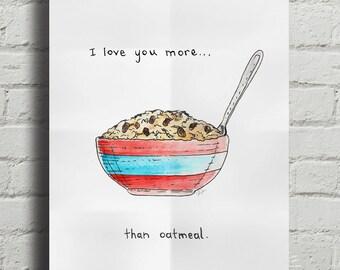 Oatmeal Love - Art Print by Dave Diller