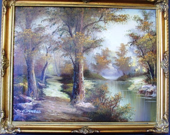 Beautiful Original C.INNESS Landscape oil painting