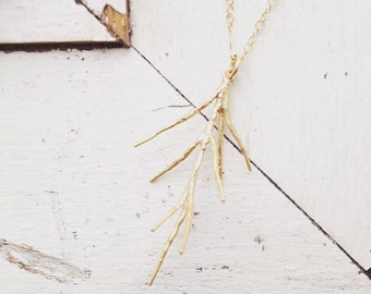 Pine branch necklace