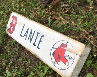 """Distressed Rustic Name Sign for your desk.  Customizable for any school mascot or colors.  Measures app.  3"""" tall, 12-14"""" long, 1""""thick"""