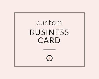 CUSTOM BUSINESS CARD - Branding Design