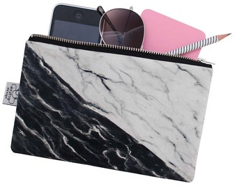 Marble zipper pouch,Iphone 7 plus pouch,Original ANJESY Designs/Gift for her.