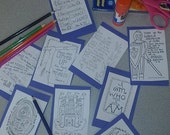 """Memory Verse Flash Cards Set #2: Bible Stories from the Heart """"Scripture Art""""  for flashcards"""