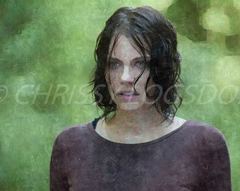 The Walking Dead Maggie 10 X 13 Poster Watercolor Print Photo Wall Art
