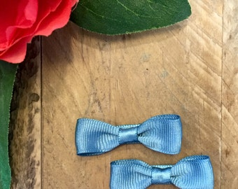 Set of 2 // Mini Bow Tie Hair Bows // Assorted Colors