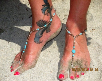 Barefoot Sandals Beach Jewelry Foot Thong Anklet Ankle Bracelet (bf12)