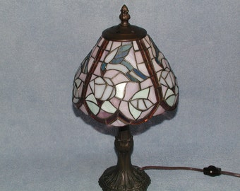 Stained Glass Lamp - Hummingbird Motif