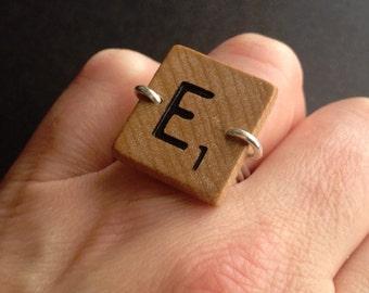 """scrabble ring """"E"""""""