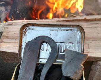 Flint and steel fire starter kit!