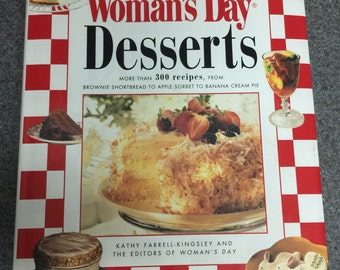 Vintage Cook book, dessert book, Woman's Day dessert, 300 recepi book, collectible cook book