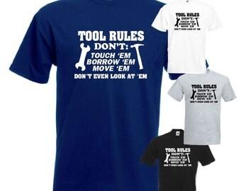 Tool Rules Mens/Adults Novelty Tshirt - Gift/Fancy Dress/Shed/Workman/Garage/Biker/Mechanic