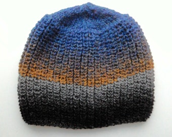 Winter wool knitted cap