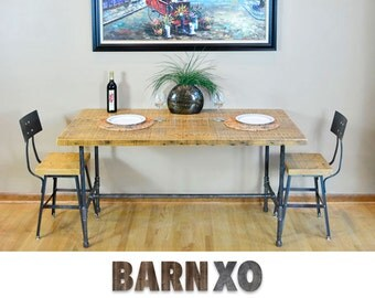 Dining Table, Kitchen Table, family rom Table, Industrial Rustic Mix, Barn Wood, Reclaimed