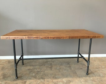 Industrial Table, Reclaimed Wood Thin Plank, Industrial Rustic Mix, Barn Wood, Reclaimed