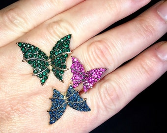 Butterfly Cluster Pave Ring