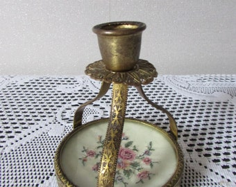 Vintage Regents of London Petit Point Candlestick