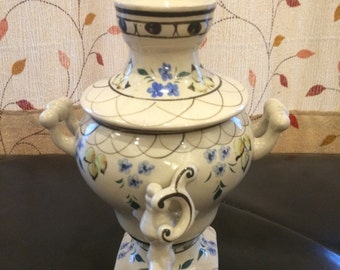 "Floral 8"" Beautiful Vase with Lid"